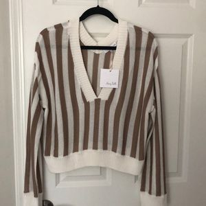 Honey Belle Cropped Striped Sweater